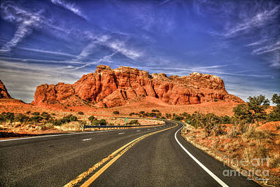 Photograph - Standing In The Road Grand Canyon Butte Page Arizona Art by Reid Callaway
