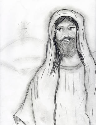 Jesus Drawing - Standing Jesus by Sonya Chalmers