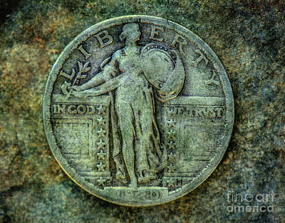 Digital Art - Standing Libery Quarter Obverse by Randy Steele