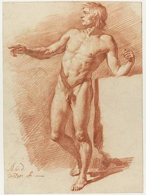 Drawing - Standing Male Nude Adriaen Van De Velde 1646  1672 by R Muirhead Art