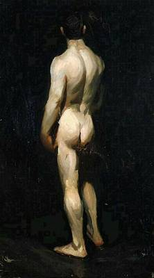 Painting - Standing Male Nude  by Edward Hooper