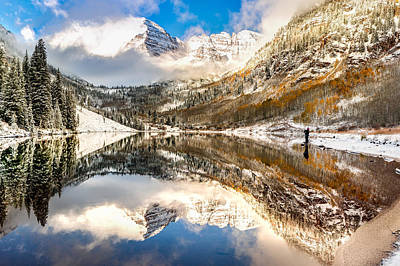 Perfect Christmas Card Photograph - Standing Near The Bells - Aspen Colorado by Gregory Ballos