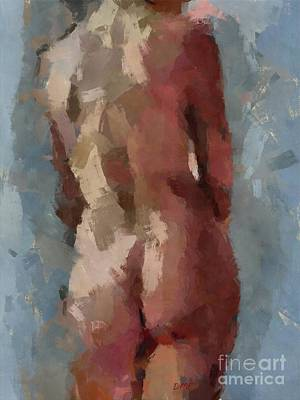 Painting - Standing Nu 5 by Dragica Micki Fortuna