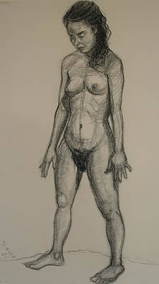 Standing Nude 5 Art Print by Donelli  DiMaria