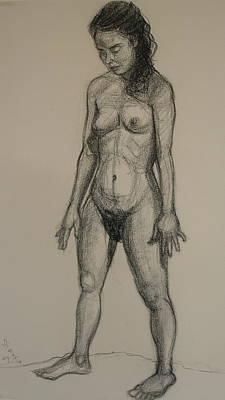 Standing Nude 5 Art Print
