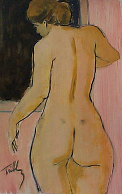 Painting - Standing Nude, Arm Extended by Thomas Tribby