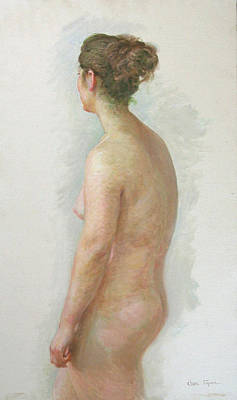 Painting - Standing Nude No.3 by Ji-qun Chen