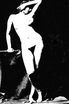 Painting - Standing Nude by Tony Rubino