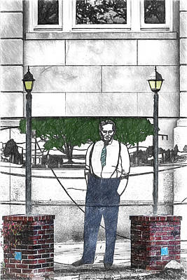 Digital Art - Standing On A Corner In Asheville Carolina by John Haldane