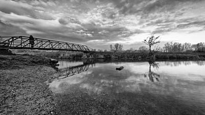 Photograph - Standing On The Bridge by Ian Merton