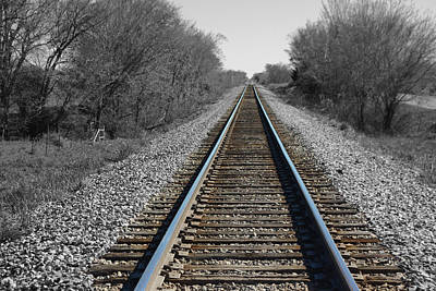 Standing On The Tracks Art Print
