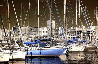 Blue Sailboats Photograph - Standing Out In Marseille by John Rizzuto