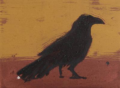 Standing Raven 2 Art Print by Sophy White