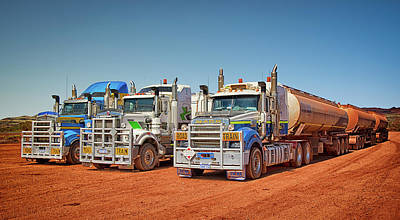 Photograph - Standing Road Trains by Martin Capek