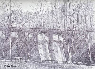 Tennessee Drawing - Standing Rock Dam by Arthur Barnes