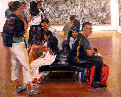 Painting - Standing Room Only by Chuck Berk