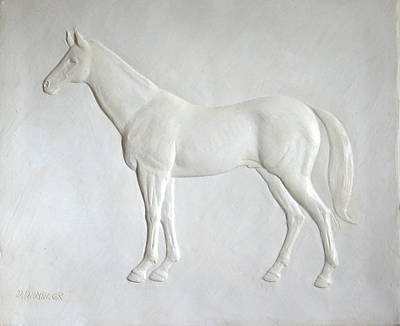 Sculpture - Standing Stallion by Deborah Dendler