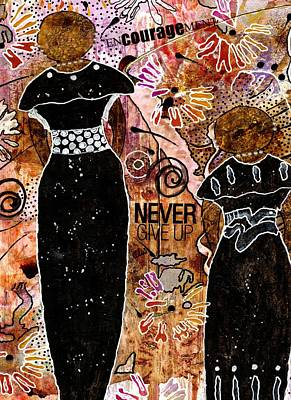 Survivor Mixed Media - Standing Steadfast In Love And Kindness by Angela L Walker