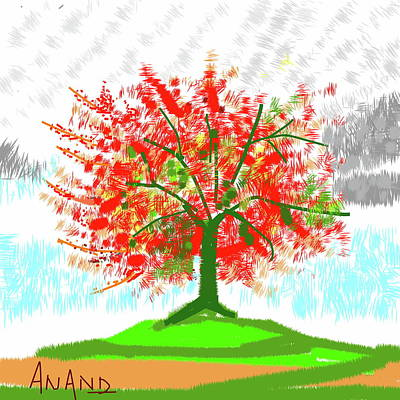 Digital Art - Standing Still In Fall by Anand Swaroop Manchiraju