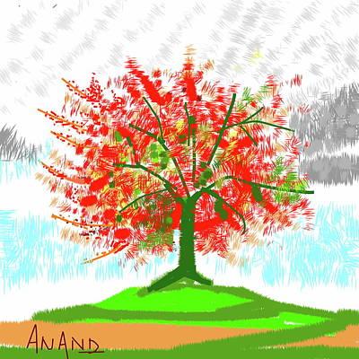 Digital Art - Standing Still In Fall by Anand Swaroop Manchiraju