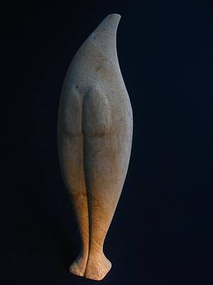 Sculpture - Standing Stone Torso - Reverse by Todd Malenke