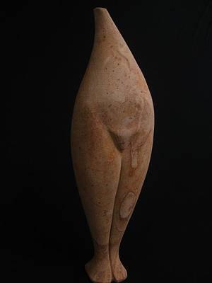 Sculpture - Standing Stone Torso by Todd Malenke