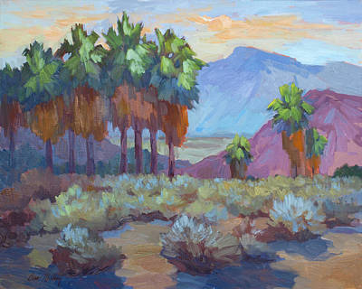 Mountain Valley Painting - Standing Tall At Thousand Palms by Diane McClary