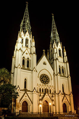 Standing Tall Cathedral Of St John The Baptist Historic Savannah Georgia Art Art Print