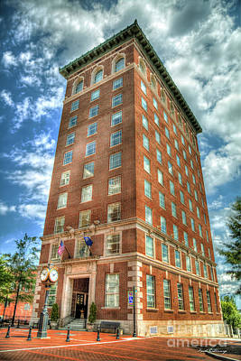 Photograph - Standing Tall Greenville Chamber Of Commerce Building 1925 Art by Reid Callaway