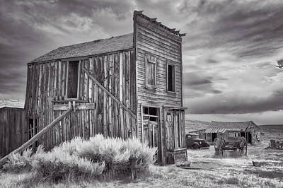 Photograph - Standing Tall In Bodie In Black And White by Lynn Bauer