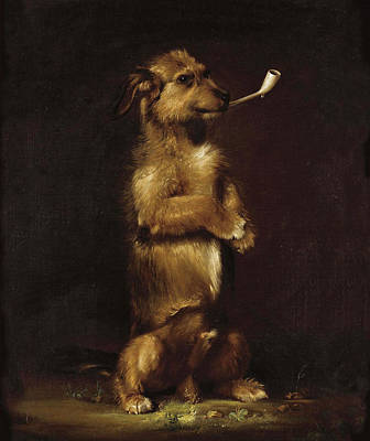 Painting - Standing To Attention by Edwin Landseer