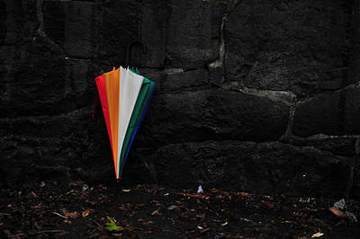 Photograph - Standing Umbrella by Randi Grace Nilsberg
