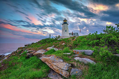 Photograph - Standing Watch Over Muscongus Bay by Rick Berk