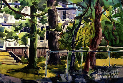 Flooding Painting - Standing Water From Eel Framed Complete by Charlie Spear