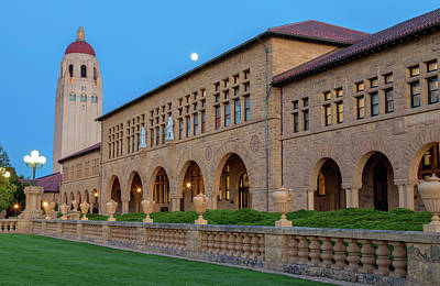 Photograph - Stanford At Moonrise by Jonathan Nguyen