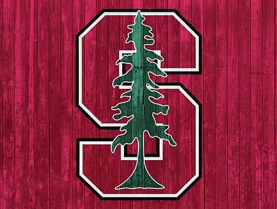 Stanford University Mixed Media - Stanford Barn Door by Dan Sproul