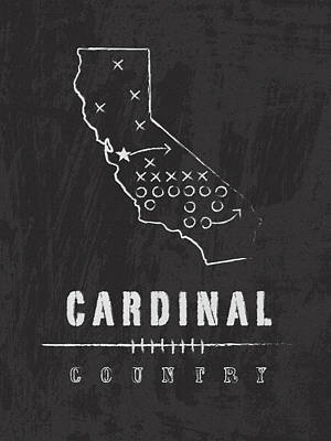 Stanford Digital Art - Stanford Cardinal Country by Damon Gray