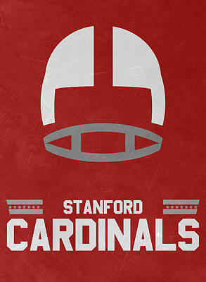 Mixed Media - Stanford Cardinals Vintage Football Art by Joe Hamilton