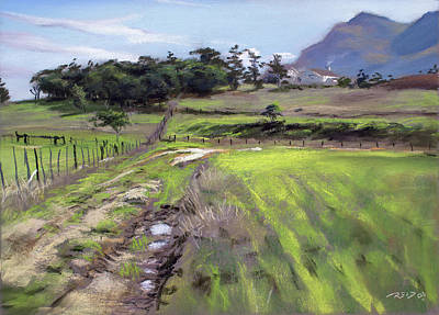 Pastel - Stanford Harvest by Christopher Reid
