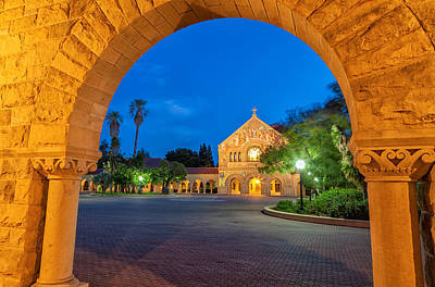 Church Fixture Photograph - stanford Memorial Church at Nighfall 2 by Jonathan Nguyen