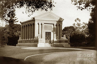 Photograph - Stanford Tomb In The Northwest Of The Stanford University Campus by California Views Archives Mr Pat Hathaway Archives