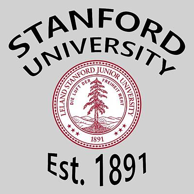 Stanford Digital Art - Stanford University Est 1891 by Movie Poster Prints