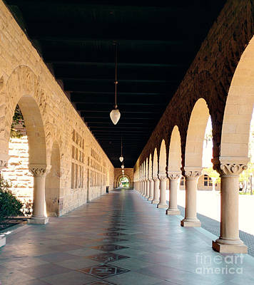 Photograph - Stanford University Hallway by Haleh Mahbod