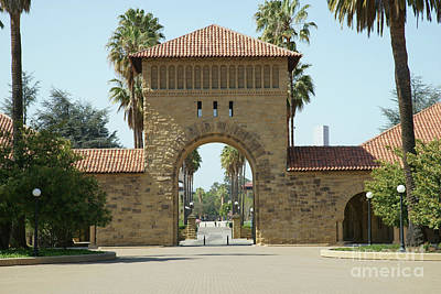 Photograph - Stanford University Main Quad Palo Alto California Dsc617 by San Francisco Art and Photography