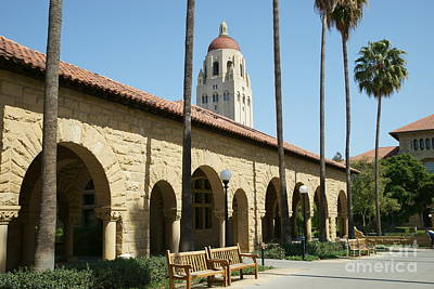 Photograph - Stanford University Palo Alto California Hoover Tower Dsc643 by San Francisco Art and Photography