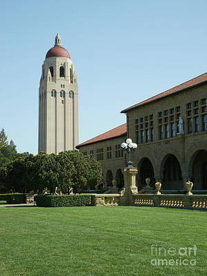 Photograph - Stanford University Palo Alto California Hoover Tower Dsc688 by San Francisco Art and Photography