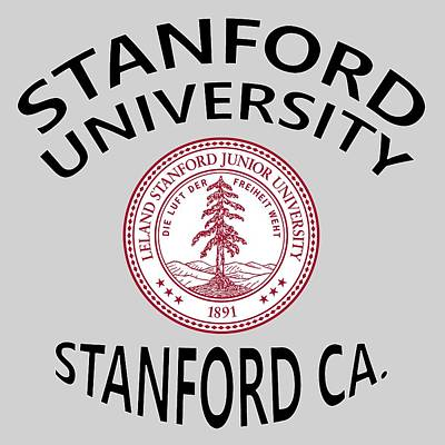 Stanford Digital Art - Stanford University Stanford California  by Movie Poster Prints