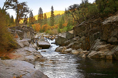Print featuring the painting Stanislaus Fall Sunset Looking East by Larry Darnell