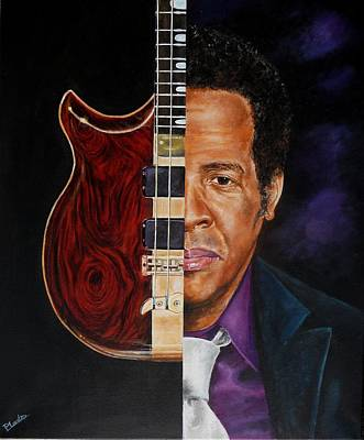 Painting - Stanley Clarke by Pascal Martos