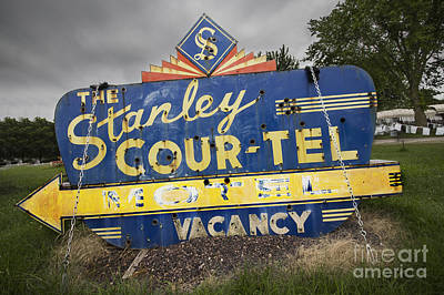 Route 66 Photograph - Stanley Cour-tel Sign by Twenty Two North Photography